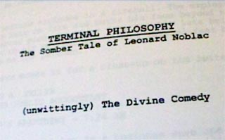 Terminal Philosophy screenplay
