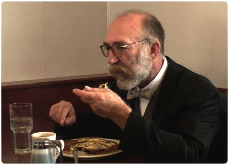 Sigmund Freud eating pancakes!