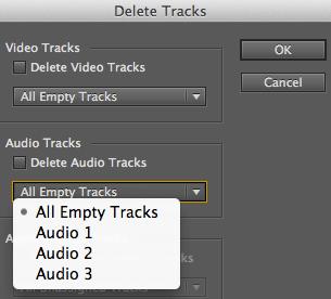 """Premiere Pro """"Delete Tracks"""" dialog"""