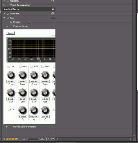 Premiere Pro EQ interface