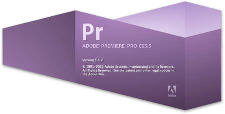 Premiere Pro CS 5.5.2 splash screen